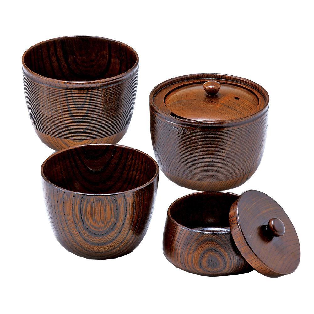 東出漆器 いつでもどこでも茶器セット(2人用)(木綿袋入) 24053 代引き不可/同梱不可