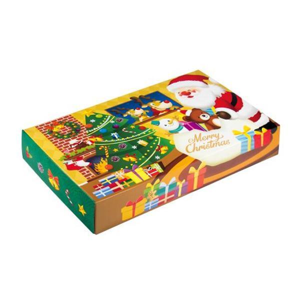 ハッピークリスマス サンタクロース BOXティッシュ 100個入 7116 代引き不可/同梱不可