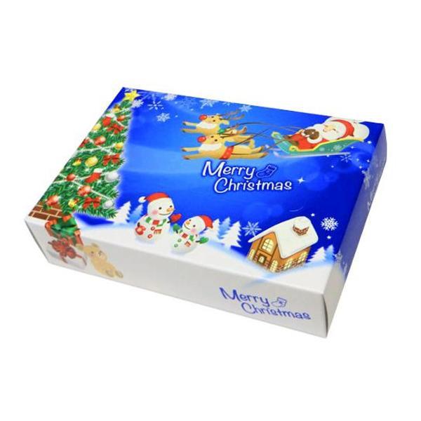 ハッピークリスマス ポストカード クリスマス BOXティッシュ 100個入 7068 代引き不可/同梱不可