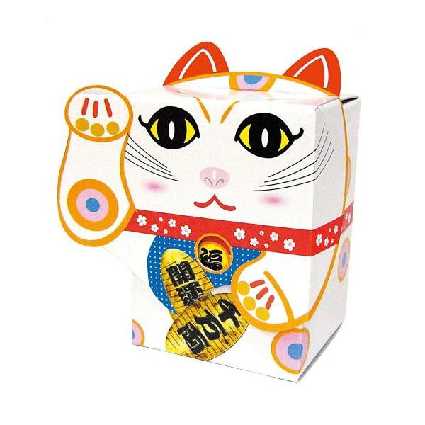 開運招福 招き猫 BOXティッシュ 100個入 白 7095 代引き不可/同梱不可