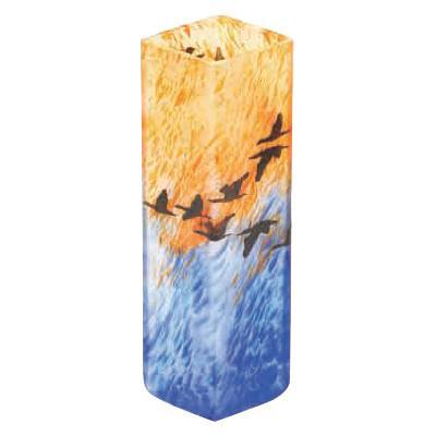 絵画のように表情豊かなカーブグラス 月夜野工房 カーブグラス 旅立ち 小 97W-84 メーカ直送品  代引き不可/同梱不可