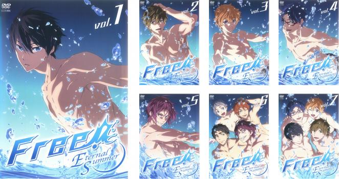 Free! フリー Eternal Summer 7枚セット 第1話~最終話【全巻セット アニメ 中古 DVD】送料無料 レンタル落ち