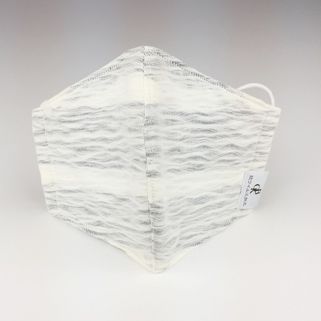 送料無料 播州織 クラッシュ加工生地 マスク グレー ボーダー 白地:表 MSK-202011cl02 日本製 手作り 衛生 オリジナル 贈物 先染 抗菌防臭加工生地使用 数量は多 抗ウイルス