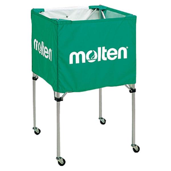 モルテン(Molten) 折りたたみ式ボールカゴ(中・背高) 緑 (mt-bk20hg-) 【MT-BK20HG-】