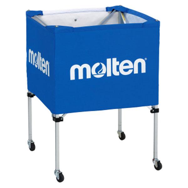 モルテン(Molten) 折りたたみ式ボールカゴ(中・背低) 青 (mt-bk20hlb-) 【MT-BK20HLB-】