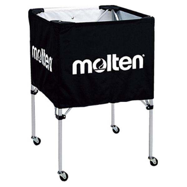 モルテン(Molten) 折りたたみ式ボールカゴ(中・背低) 黒 (mt-bk20hlbk-) 【MT-BK20HLBK-】