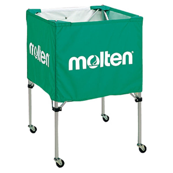 モルテン(Molten) 折りたたみ式ボールカゴ(中・背低) 緑 (mt-bk20hlg-) 【MT-BK20HLG-】