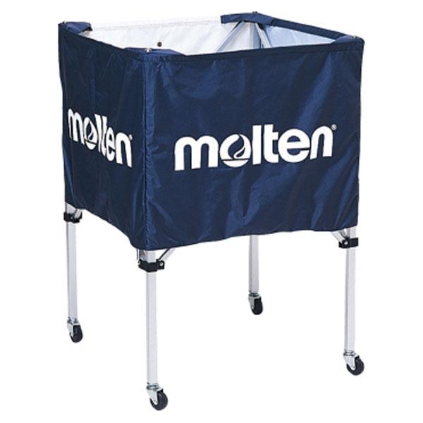 モルテン(Molten) 折りたたみ式ボールカゴ(中・背低) ネイビー (mt-bk20hlnv-) 【MT-BK20HLNV-】
