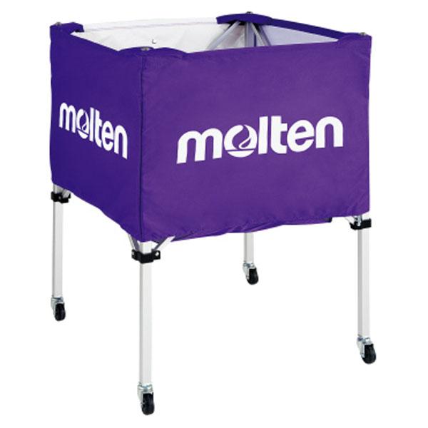 モルテン(Molten) 折りたたみ式ボールカゴ(中・背低) パープル (mt-bk20hlp-) 【MT-BK20HLP-】