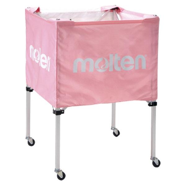 モルテン(Molten) 折りたたみ式ボールカゴ(中・背低) ピンク (mt-bk20hlpk-) 【MT-BK20HLPK-】