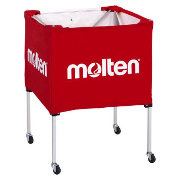 モルテン(Molten) 折りたたみ式ボールカゴ(中・背低) 赤 (mt-bk20hlr-) 【MT-BK20HLR-】