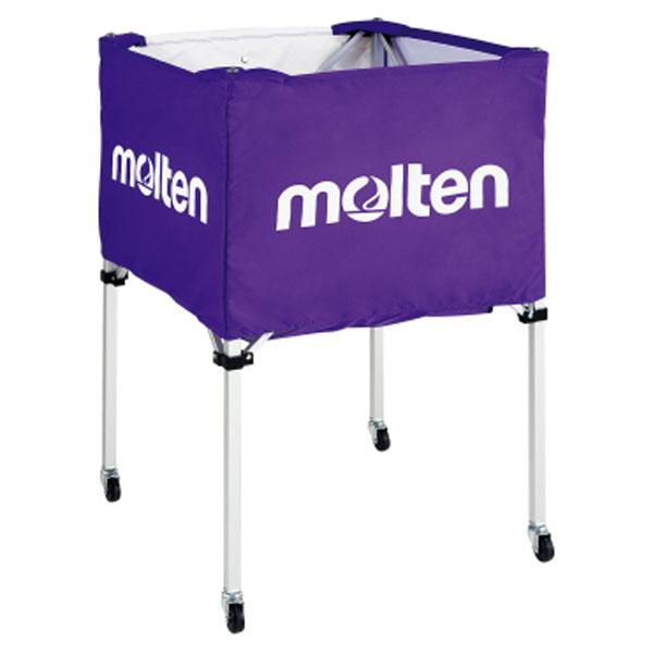 モルテン(Molten) 折りたたみ式ボールカゴ(中・背高) 紫 (mt-bk20hp-) 【MT-BK20HP-】
