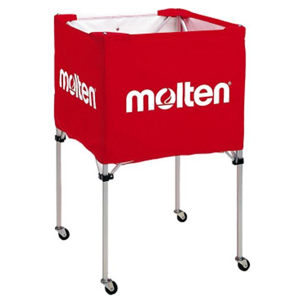 モルテン(Molten) 折りたたみ式ボールカゴ(中・背高) 赤 (mt-bk20hr-) 【MT-BK20HR-】