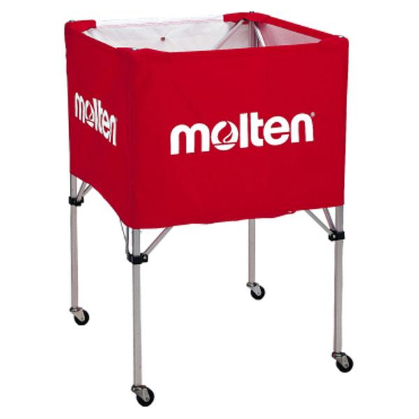 モルテン(Molten) 折りたたみ式ボールカゴ(大・背高) 赤 (mt-bk30vr-) 【MT-BK30VR-】