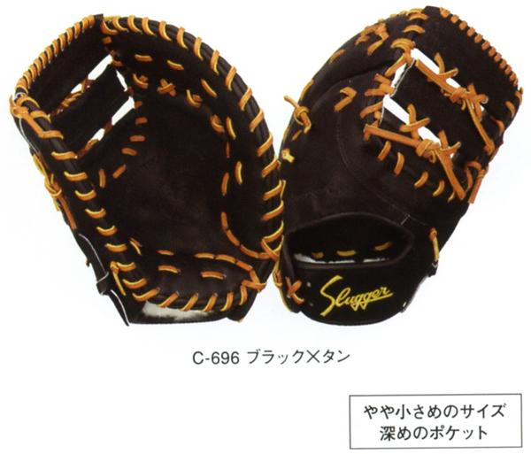 【型付け無料】 久保田スラッガー 野球 硬式 ファーストミット FP-ZUR 一塁手用 【黒】 【FPZUR】【返品・交換不可】