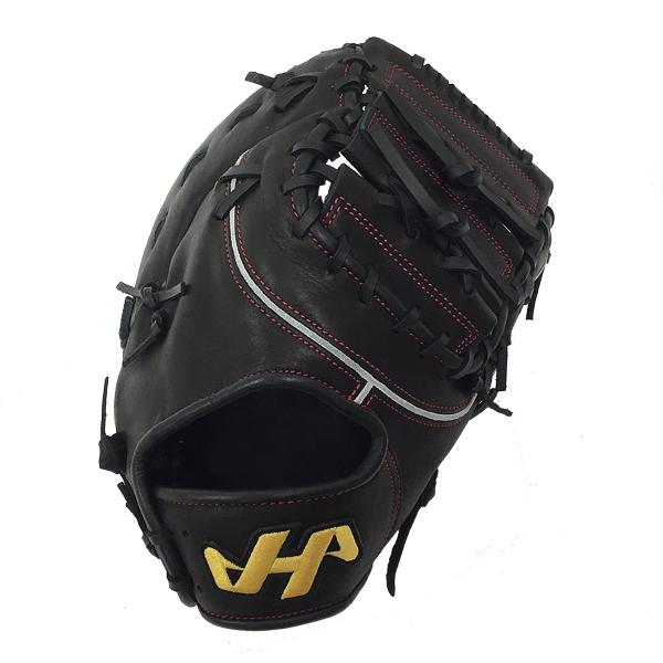 【型付け無料】 人気 ハタケヤマ 野球 軟式 ファーストミット THシリーズ TH-381B ブラック 一塁手用 【黒】 TH-381B