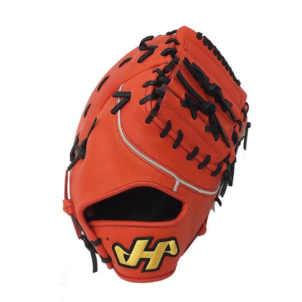 【型付け無料】 人気 ハタケヤマ 野球 軟式 ファーストミット THシリーズ TH-381V Vオレンジ 一塁手用 【橙】 TH-381V