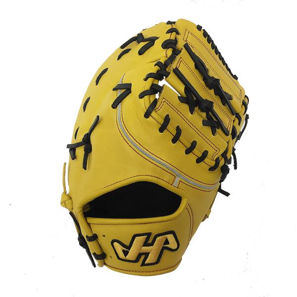 【型付け無料】 人気 ハタケヤマ 野球 軟式 ファーストミット THシリーズ TH-381Y イエロー 一塁手用 【黄】 TH-381Y