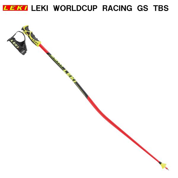 レキ スキー ストック レーシング用 WORLDCUP RACING GS ネオンレッド/ブラック TBS 636-3876