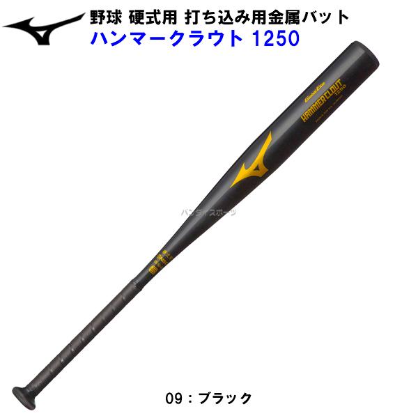 ミズノ 野球 硬式 打ち込み用金属バット ハンマークラウト1250 1CJMH20184