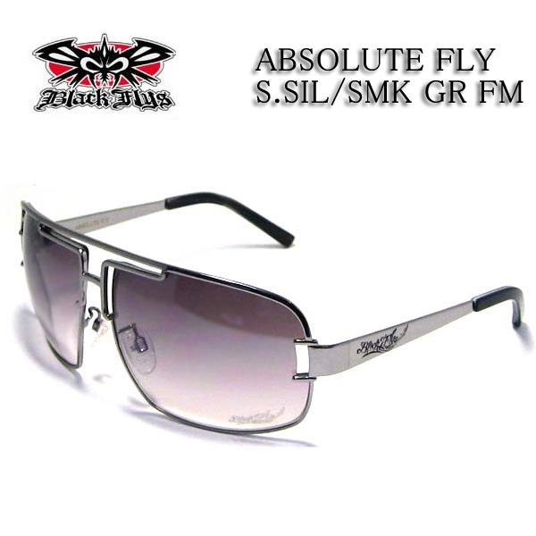 HI-ENDモデルBLACK FLYS ブラックフライ サングラス ABSOLUTE FLY S.SIL SMK GR FM スモークグラデーションミラー BL2