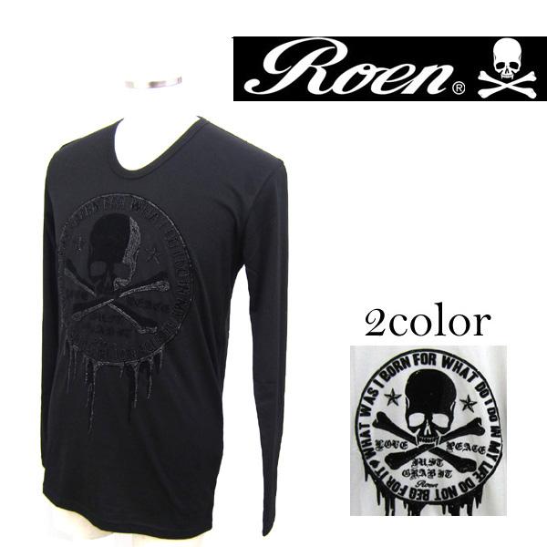 Roen ロエン Blood Circle L T ブラッドサークルロングTシャツ メンズ 72147103 スカル【7,000円以上購入で送料無料】BL2
