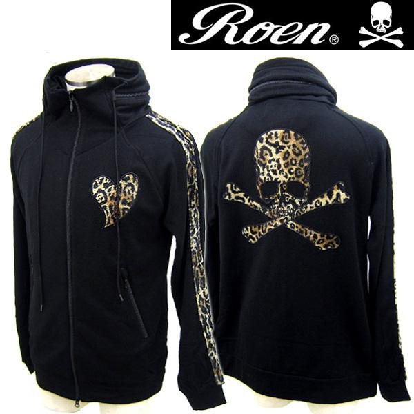 スカル【3980円以上購入で送料無料】 メンズ Jersey skull Roen ロエン 72147113 レオパードスカルジャージ Leopard 長袖