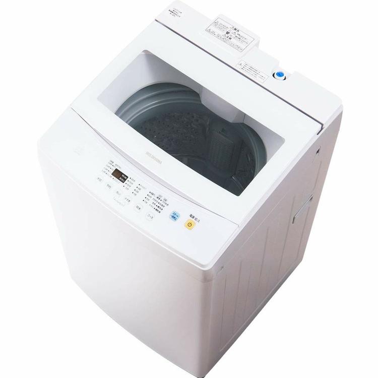 洗濯機 7kg 一人暮らし アイリスオーヤマ IAW-T702 洗濯機 一人暮らし 全自動洗濯機 ひとり暮らし おしゃれ 単身 新生活 ホワイト 白 部屋干し きれい 洗濯 毛布 洗濯器 大容量 毛布 引っ越し チャイルドロック ガラス扉 ステンレス槽 シンプル