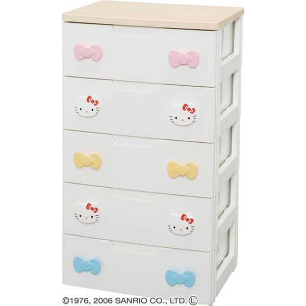 The fashion that kids chest KHG-555H Hello Kitty five steps chest chest chest chest clothing storing clothes case storing box clothing storing kids entering a kindergarten change of dress shows cute
