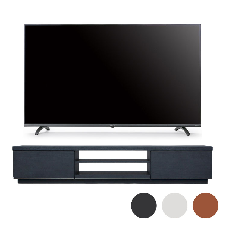 4Kテレビ 49型 音声操作 テレビ台BAB150送料無料 テレビ テレビ台 セット TV 4K 音声操作 49型 黒 引き出し アイリスオーヤマ