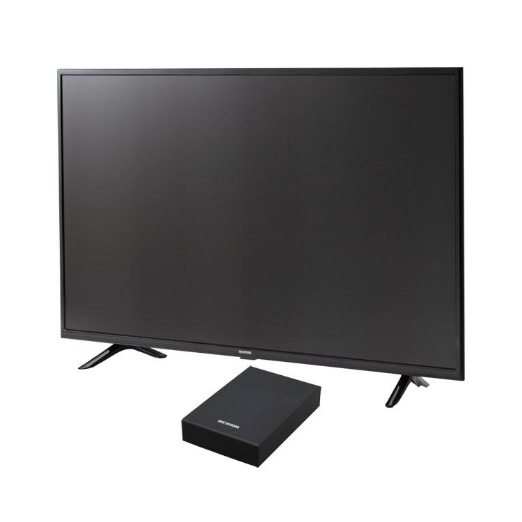 テレビ Fiona 43v 外付けHDDセット品送料無料 テレビ HDD セット TV 4K 43V 43型 外付け ハードディスク アイリスオーヤマ