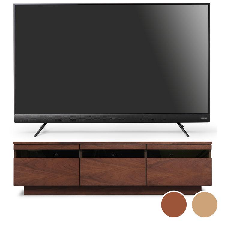 4Kテレビ フロントスピーカー 50型 完成品テレビ台 BTS-GD150U送料無料 テレビ テレビ台 セット TV 4K 50V 50型 完成品 ガラス アイリスオーヤマ