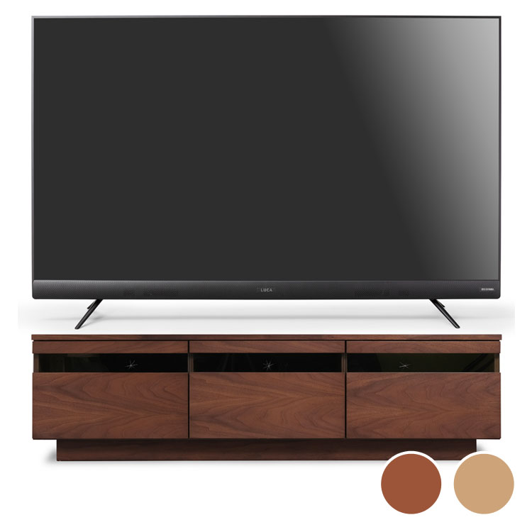 4Kテレビ フロントスピーカー 55v 完成品テレビ台 BTS-GD150U送料無料 テレビ テレビ台 セット TV 4K 55V 55型 完成品 ガラス アイリスオーヤマ