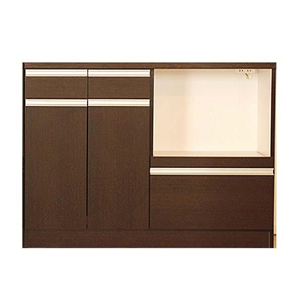 【送料無料】【TD】スライス(マイズ)120カウンターレンジ ブラウン 89460160 キッチン家具 木製家具 大型家具 【代引不可】【送料無料】【東馬】