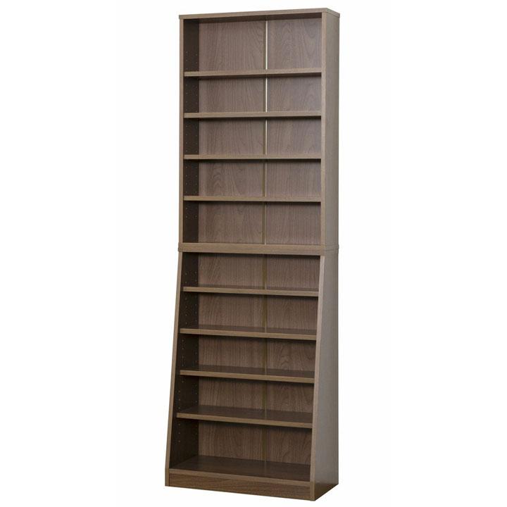 SOHO書棚W60 ウォルナット 31141送料無料 本棚 書棚 スリム 薄型 【TD】 【代引不可】
