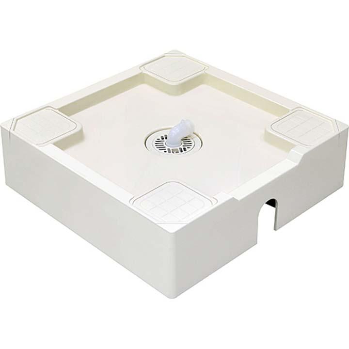 洗濯機パン(床上配管用) アイボリーホワイト H546-640送料無料 洗濯機用品 防水パン 洗濯機 せんたくき 洗濯機設置 洗濯 ランドリー SAN-EI 【D】