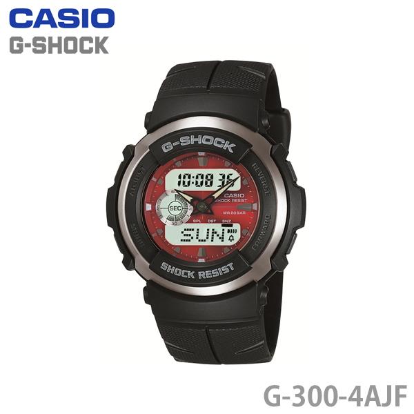【送料無料】カシオ〔CASIO〕G-SHOCK G-300-4AJF〔ジーショック 腕時計 GSHOCK〕【HD】【TC】SHUM[CAWT]