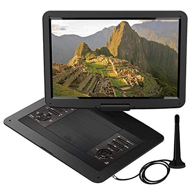 録画機能付 15.4インチ フルセグポータブル ブラック VS-S154M 送料無料 DVDプレーヤー ポータブル 録画機能 コンパクトプレーヤー 3電源 屋外 ドライブ 出張 キャンプ ベルソス 【D】