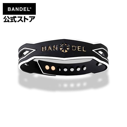 Slash Bracelet Monochrome Gold BANDEL bracelet ブレスレット バンデル 全店販売中 メンズ レディース ユニセックス アジャスタブルスナップ ストリートファッション スラッシュ プレゼント ファッション プラチナシリコーン 男性 贈り物 女性 サイズ調整 新作多数