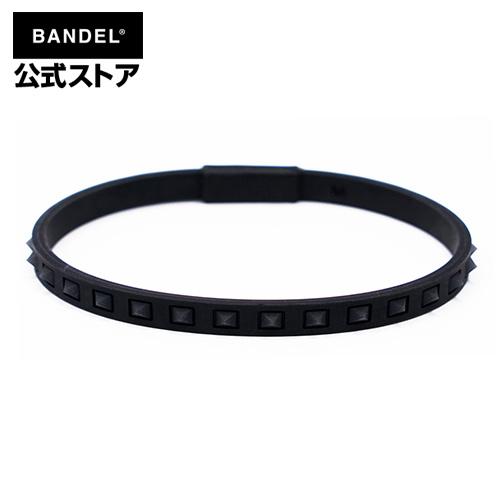 studs line anklet Black×Black アンクレット ブラック×ブラック BlackxBlack 黒×黒 メンズ バンデル レディース シリコン スポーツ BANDEL スタッズ 上等 ペア 安い