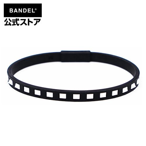 アンクレット studs line anklet ブラック×ホワイト(BlackxWhite 黒×白 スタッズ) BANDEL バンデル  メンズ レディース ペア スポーツ シリコンゴム