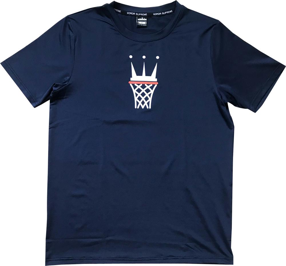 名入れプリント+220円 納期2~5日 DADA Tシャツ CAGE 吸汗速乾生地 NAVY お気に入 TEE 激安価格と即納で通信販売 LOGO