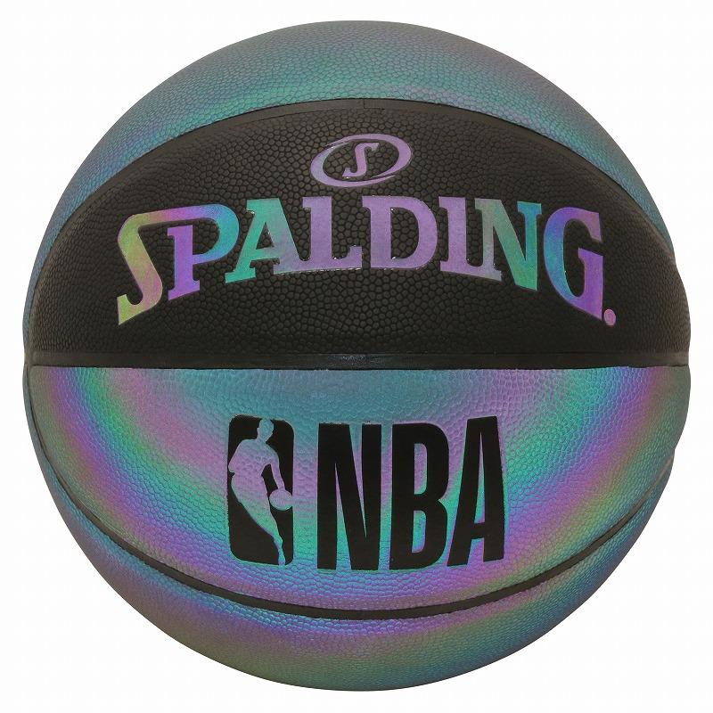 バスケットボール SPALDING イリディセント 7号 合成皮革 出荷 限定タイムセール