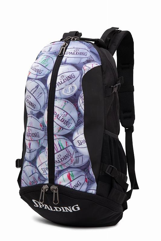 バスケット専用バッグケイジャー マーブルボール スポルディング NBA公式球ブランドSPADLING製 CAGER BASKETBALL BAG Backpack バックパック