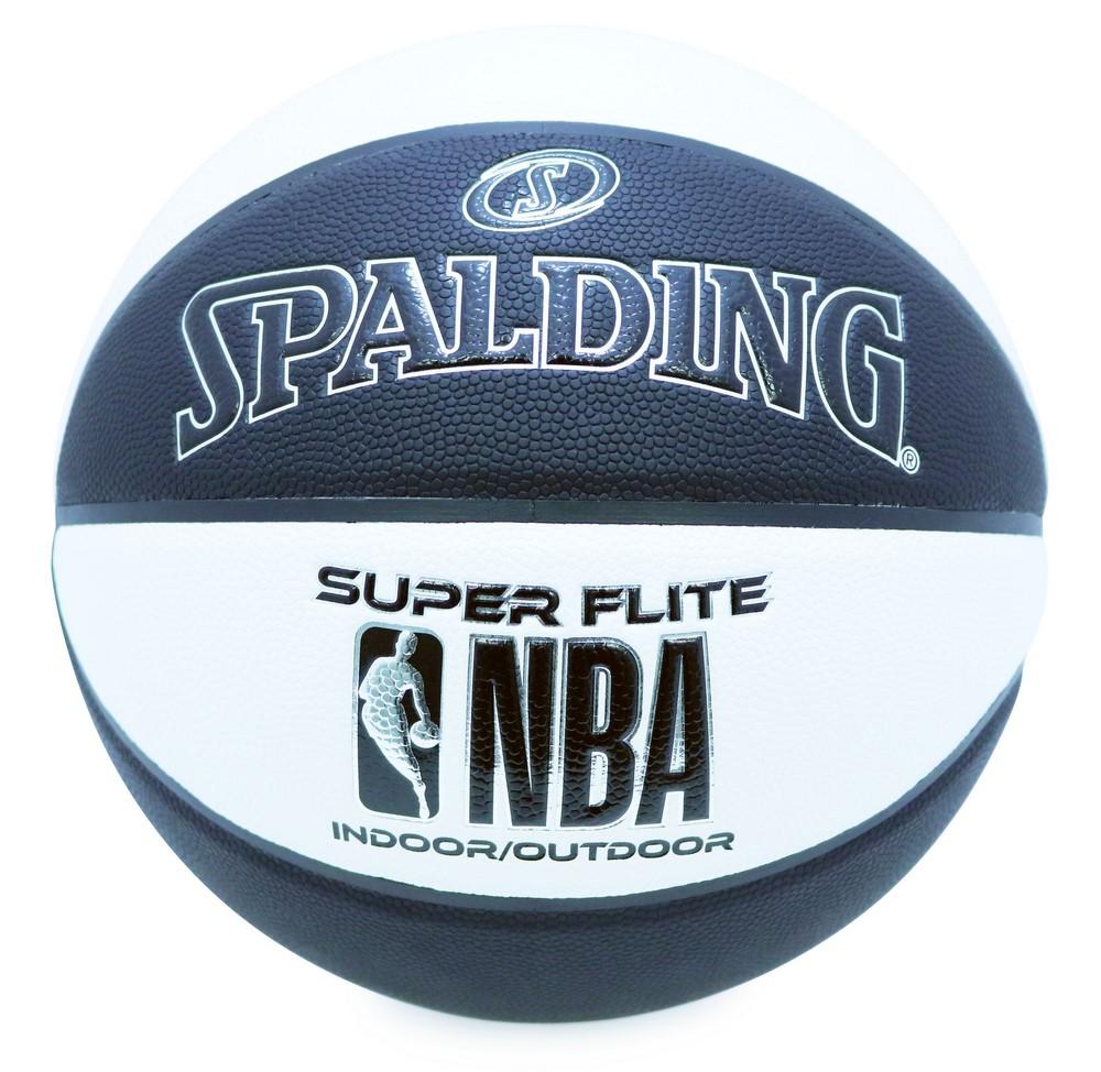 優先配送 名入れプリント無料 納期2~5日 名入れ可能 バスケットボール SPALDING 合成皮革 スーパーフライト 7号 激安セール ブラック×ホワイト