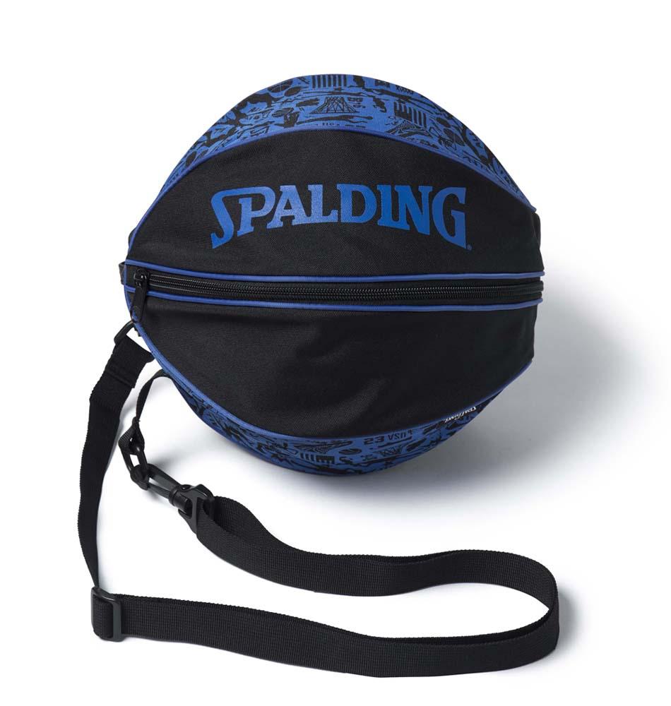 バスケットボールバッグ1球入れ 日本限定 SPADLING製 BALLBAG グラフィティブルー スポルディング 日本
