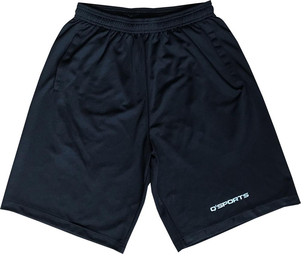名入れプリント+220円 納期2~5日 Q4SPORTS 別倉庫からの配送 Basic Shortsブラック Q4 SALE開催中