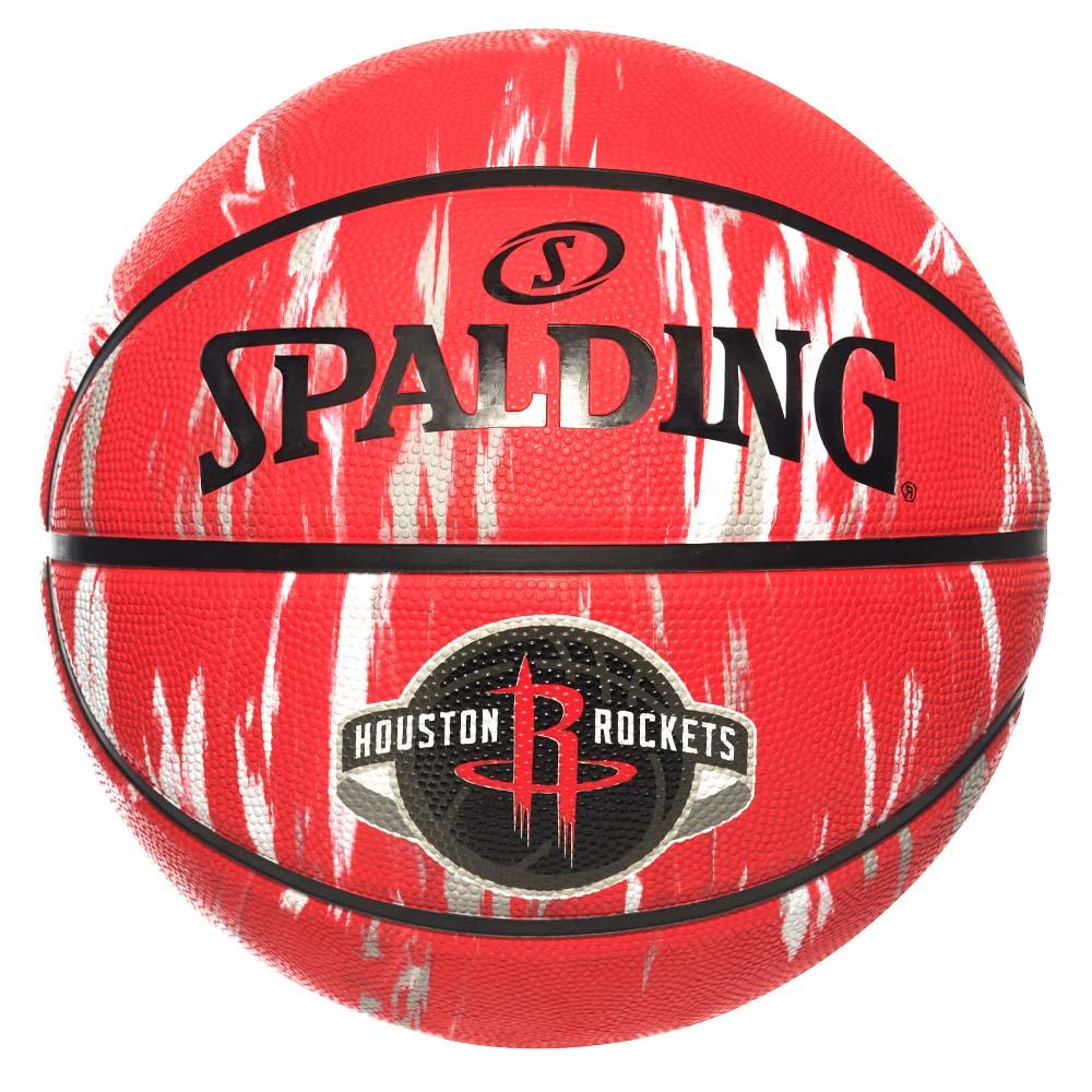 バスケットボール SPALDING ラバーボール マーブルコレクション 誕生日/お祝い ロケッツ 安値 外用 7号