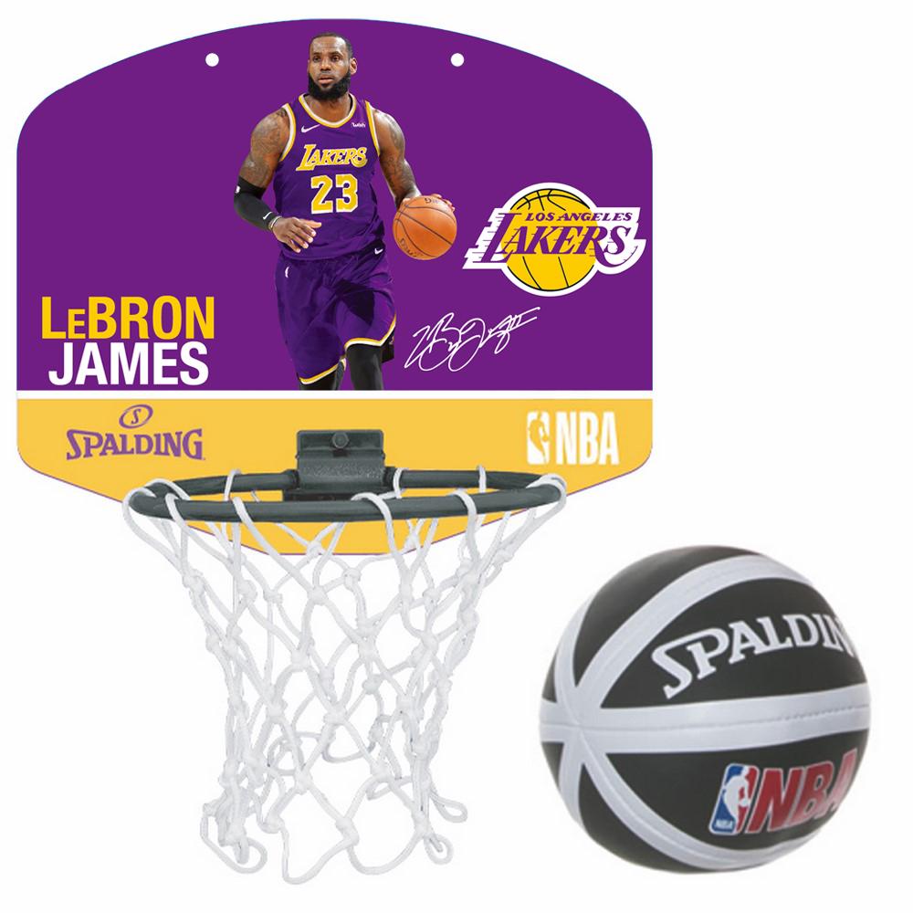 家庭でのバスケ遊びやインテリアとして 倉庫 スポルディング セール 登場から人気沸騰 マイクロミニボード レブロン ジェームズ NBA SPALDING ミニバスケットゴール レイカーズ