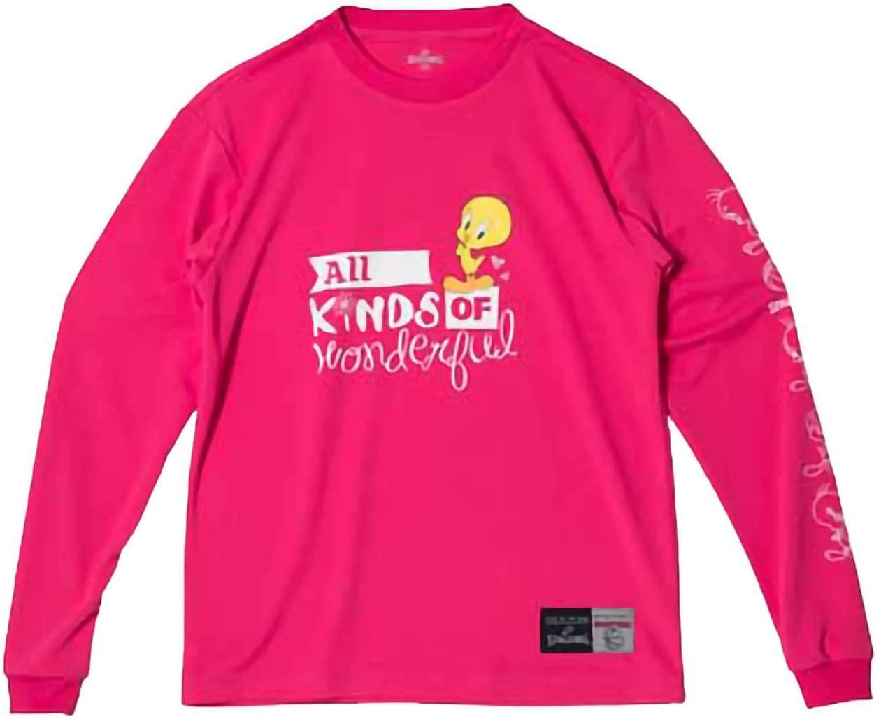 SPALDING 安値 スポルディング L S Tシャツ ピンク セール開催中最短即日発送 TWEETY WONDERFUL XXSサイズ